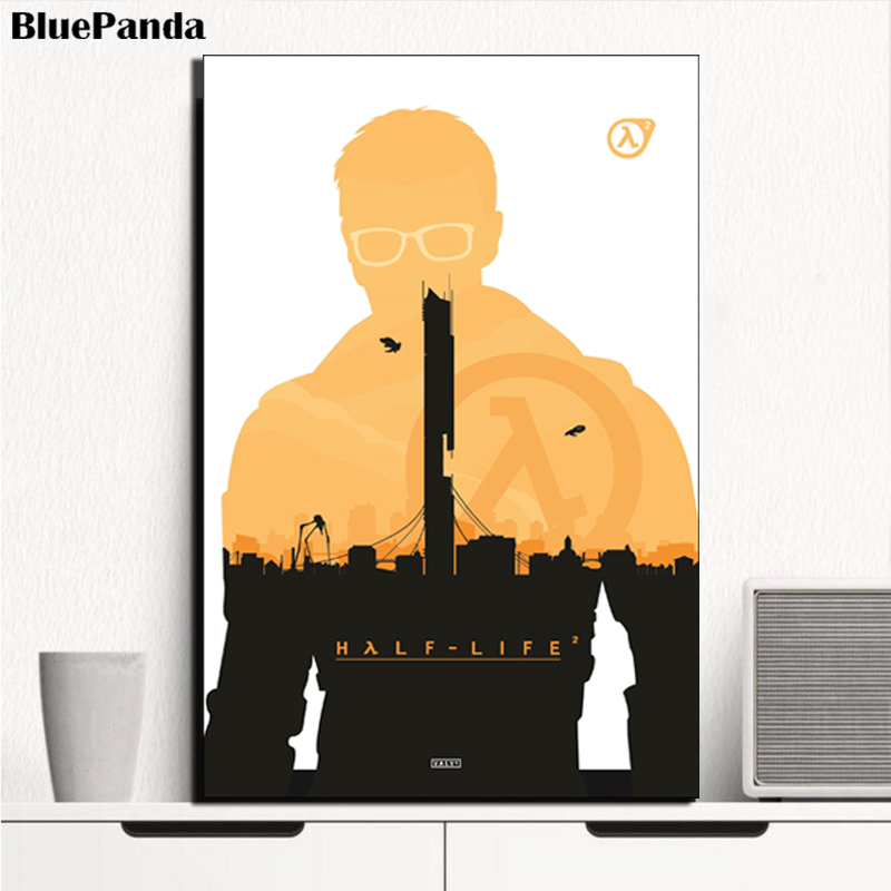Half Life 2 Movie Modern Poster HD Oil Canvas Paintings For Living Room Bedroom Decoration Wall Art Home Decor