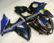Hot Sales,Blue flame kit For Suzuki K9 GSXR1000 2009-2014 GSX R1000 09 10 11 12 13 14 Fairing of motorbike (Injection molding)