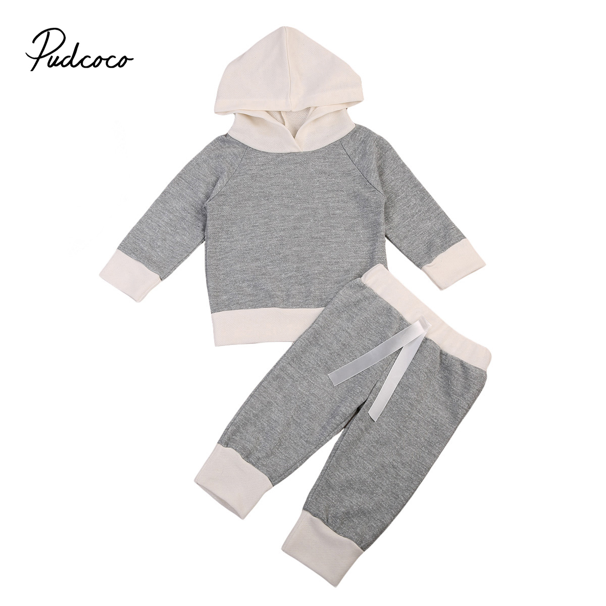 Kids Baby Toddler Boy Girl Winter Clothes Set Hoodie Long Sleeve T-shirt Tops Pants Leggings Outfits Infant Cotton Clothing 2pcs children outfit clothes kids baby girl off shoulder cotton ruffled sleeve tops striped t shirt blue denim jeans sunsuit set