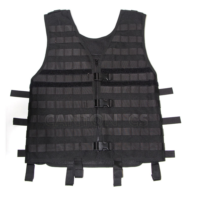 Tactical MOLLE Modular Utility Vest With Breathable Mesh Adjustable Outdoor Molle Vest For CS Wargame Hunting Gear