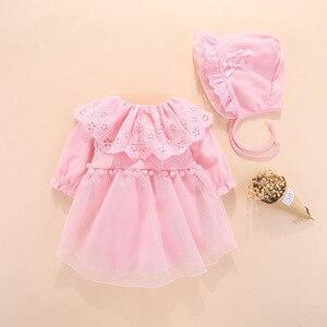 Image 3 - 2019 Одежда для новорожденных девочек, платья, весеннее платье для крещения на возраст 0 3 месяца, детские платья, комплекты платьев для крещения на возраст 6
