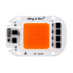 Светодиодный светильник для выращивания чип полный спектр рост светодиодный чип AC 110V 220V 20W 30W 50W для комнатных растений и рассада цветов