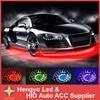 90 120CM High Quality 7 Color LED RGB Strip Flash Light Under Car Glow Underbody System