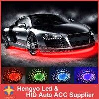 90*120CM High Quality 7 Color LED RGB Strip Flash Light Under Car Glow Underbody System Neon Lamp Kit Remote