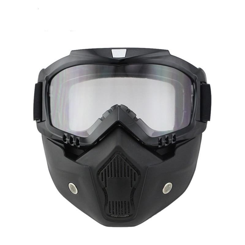 NYHET Dammsäker motorcykelhjälm Mask retro vintage mask med - Motorcykel tillbehör och delar - Foto 3