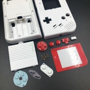 Image 4 - E evi Gameboy Klasik Beyaz Renk Yedek Konut Shell Kılıf Kapak GB Yağ Oyun Konsolu Kırmızı düğmeler