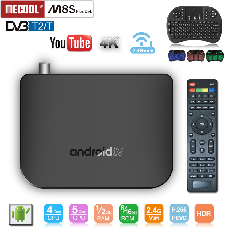 MECOOL M8S Plus DVB Amologic S905D DVB T2-T 1gb 8gb rom android tv box 2.4G WiFi H.265 1080P 4K Support Youtube Online moviesMECOOL M8S Plus DVB Amologic S905D DVB T2-T 1gb 8gb rom android tv box 2.4G WiFi H.265 1080P 4K Support Youtube Online movies