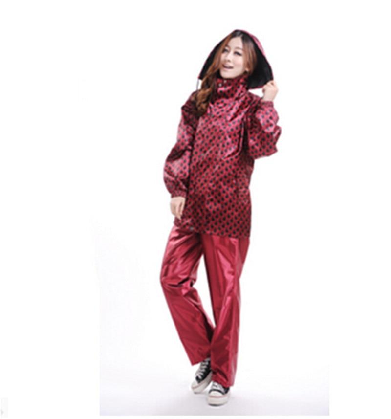 ФОТО Raincoat Women Adult Fashion Personality  Autumn And Winter Rain Coat Type Solid Zipper Waterproof Raincoat