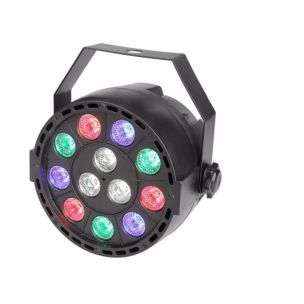 Aimbinet Par Light 12 LED RGBW Stage Lighting DMX 512 for Club Disco Party Ballroom KTV Bar Wedding DJ Live Show Lighting Effect dmx 512 mini moving head light rgbw led stage par light lighting strobe professional 9 14 channels party disco show