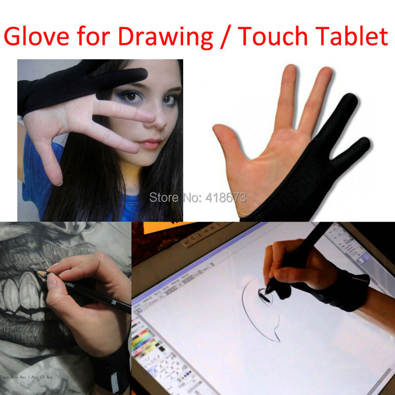 Lh New Artist Anti Fouling Lycra Glove For Touch Tablet Drawing
