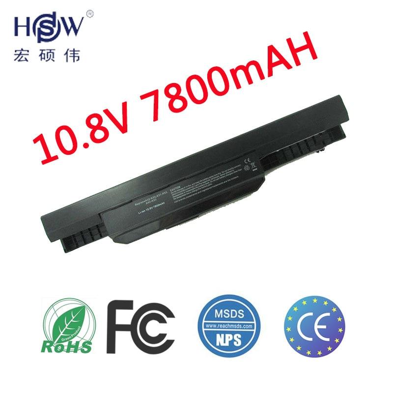 باتری لپ تاپ HSW برای Asus X54H X53U X53S X53SV X84 X54 X43 A43 A53 K43 K53U K53T K53SV K53S K53E k53J K53 A53S A42-K53 A32-K53