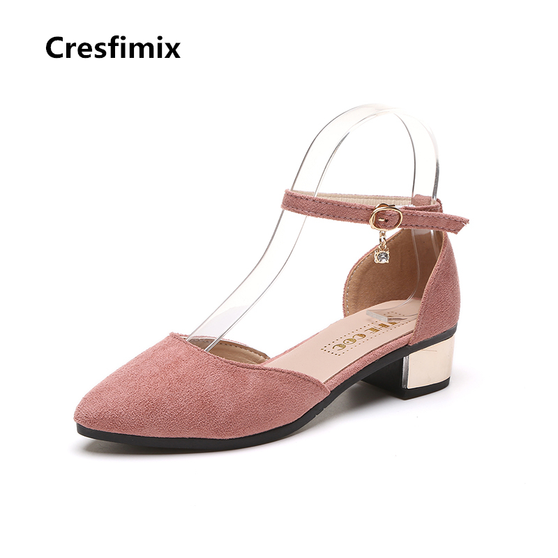 Cresfimix zapatos de mujer women cute pink spring and summer high heel shoes female buckle strap comfortable high heels sapatos cresfimix zapatos de mujer women casual spring
