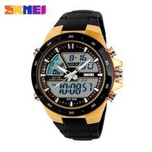 SKMEI Hombres Deportes Relojes Moda Casual hombres Reloj Hombre Militar de Múltiples Pulsera de Alarma Analógico Digital 30 A Prueba de agua