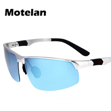 2017 New Men's Polarized Sunglasses Mirror Coating Polarised Lens Fashion Aluminum Magnesium Alloy for Driving Sun Glasses 2121