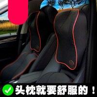 Kafa masaj Araba Koltuk boyun Yastıklar Kafalık bellek Yumuşak Pamuk Kiralık araç Koltuk bellek pamuk servikal vertebra için Destek