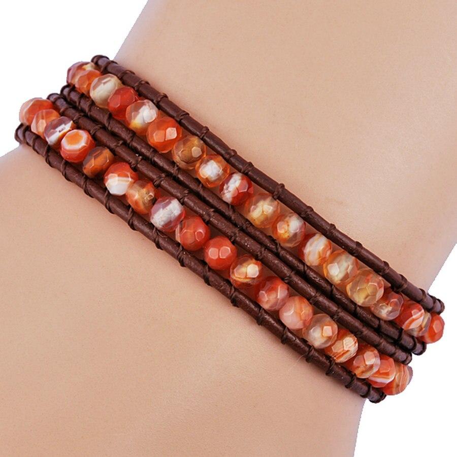 EUDORA Women's Bracelet Top Quality orange Colors Summer Charm Bracelet Jewelry For Women Handmake Jewelry
