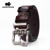 BISON DENIM Genuine Leather Belt For Men Gift Designer Belts Men S High Quality Cowskin Personality