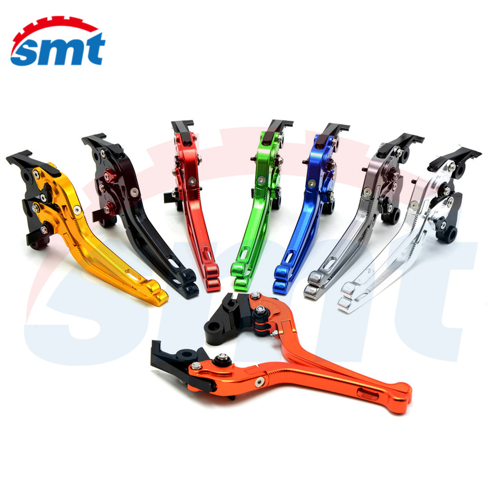 Motorcycle Adjustable 3D Folding Brake Clutch Levers Orange For HONDA CB 1000 R CBR1000RR FIREBLADE 04 05 06 07 08 09 14 billet alu folding adjustable brake clutch levers for motoguzzi griso 850 breva 1100 norge 1200 06 2013 07 08 1200 sport stelvio
