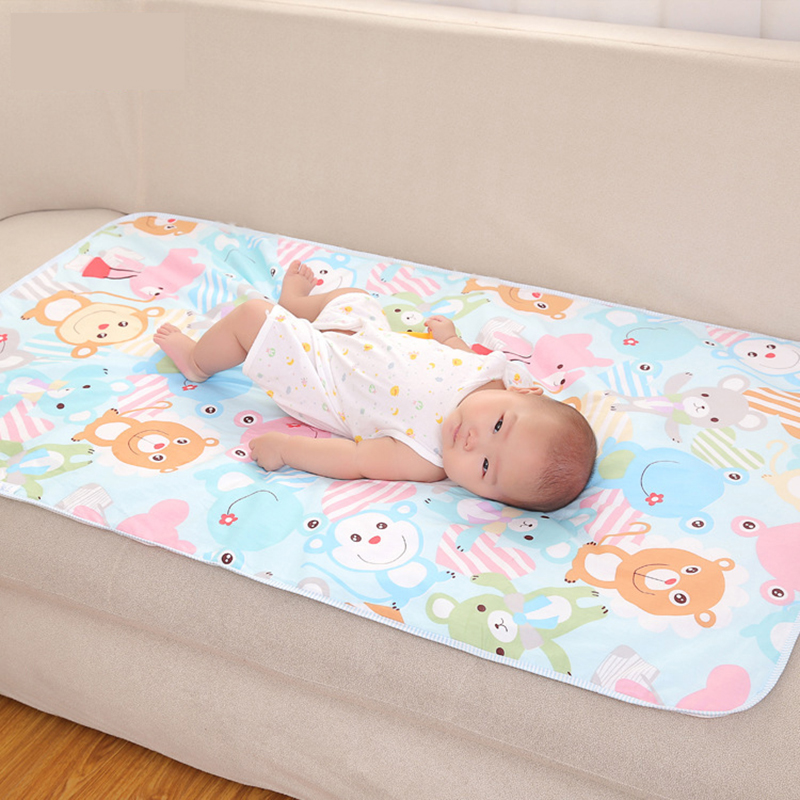 Waterproof Baby Mat Sheet Queen Mattress Diaper Pad Changing Cotton Cartoon Infant Toddler Cover Portable Washable In Pads Covers