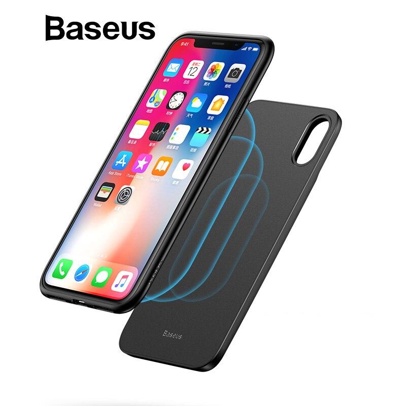 Baseus Caricatore Senza Fili Accumulatori e caricabatterie di riserva Per iPhone Cassa di Batteria X Charing Wireless Powerbank Per il iphone X Caso del Caricatore
