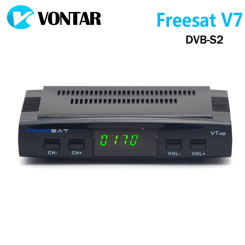 [Genuine] Freesat V7 DVB-S2 HD with  USB Wifi Satellite TV Receiver Support PowerVu Biss Key Cccamd Youtube Youporn Set Top Box freesat v7 max satellite receiver with 1 year cccam europe 1080p full hd dvb s2 support cccam newcam youtube youporn set top box