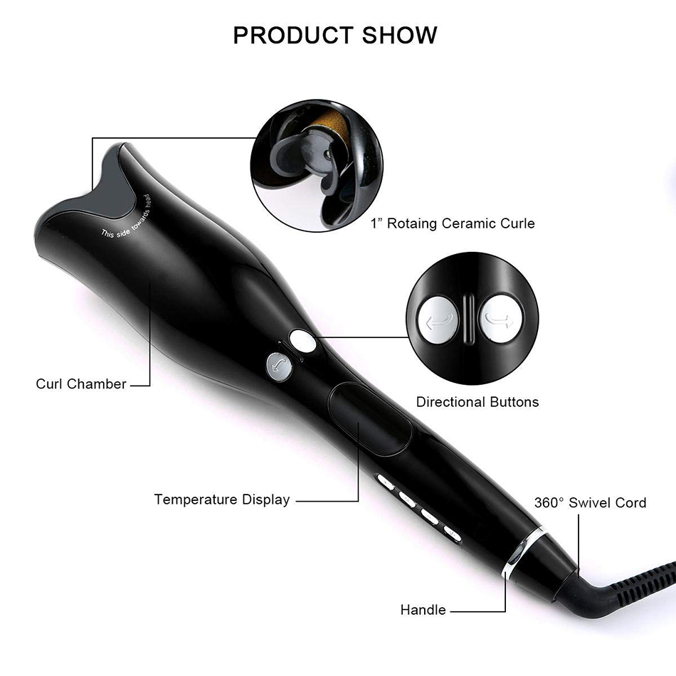 Rose-shaped Multi-Function LCD Curling Iron Professional Hair Curler Styling Tools Curlers Wand Waver Curl Automatic Curly Air 1