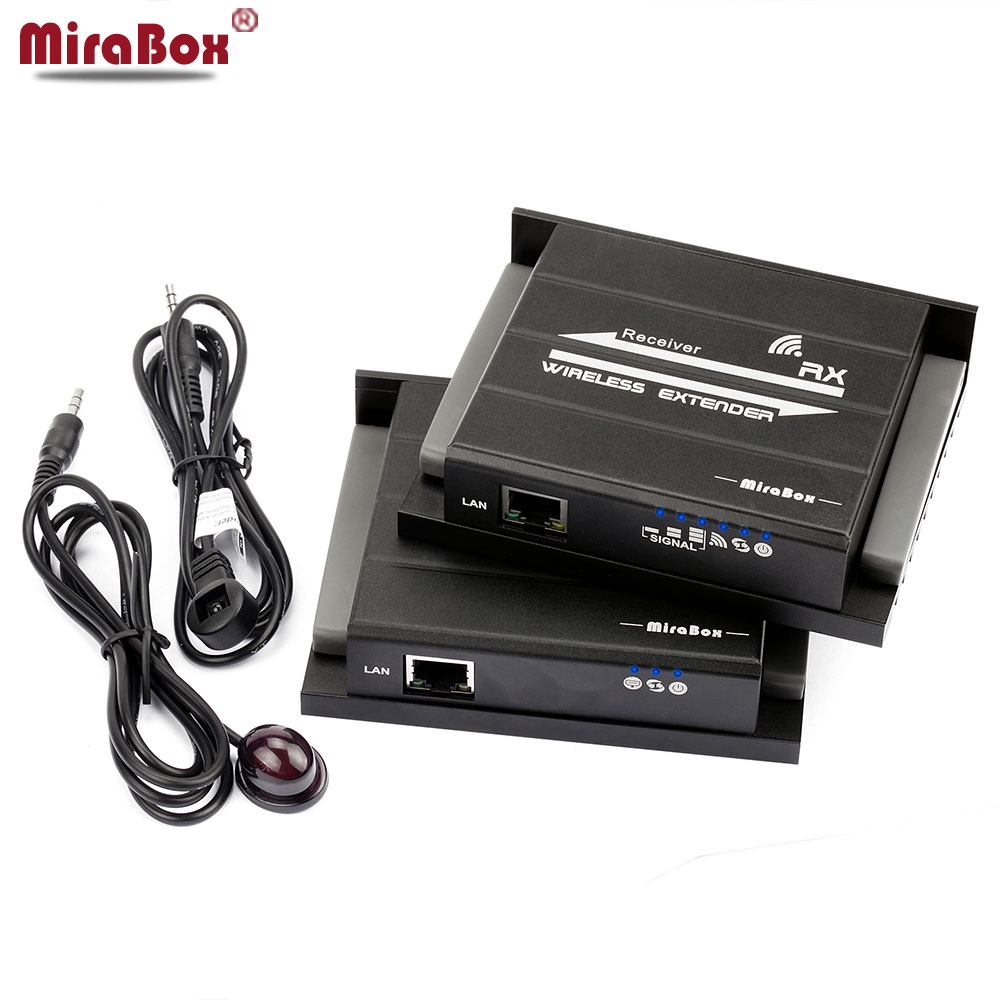 MiraBox IR Wireless HDMI Extension Support IR 1080p @60Hz 1080pFull HD HDMI Transmit Wireless Up To 60m Lan Cable 120m