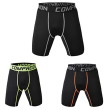 Men Sports Gym Compression Wear Under Base Layer Short Pants Athletic Tights half trousers