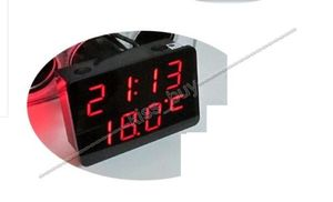 Image 3 - Voltmètre de LED numérique 3IN1 + thermomètre + horloge DC 12 v voiture allume cigare prise moniteur tension automatique compteur de température de temps