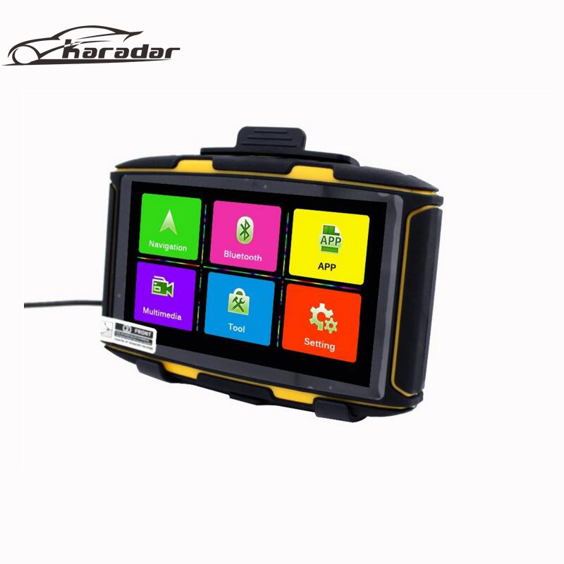 Newest  Inch Android Navigator Waterproof Motorcycle Gps Navigation With Wifi Btfm Play