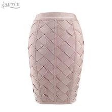 Adyce 2017 Fashion Women Summer Bandage Skirt Black Apricot Brown Cross Plaid Back Zipper Above Knee Celebrity Bodycon Skirts