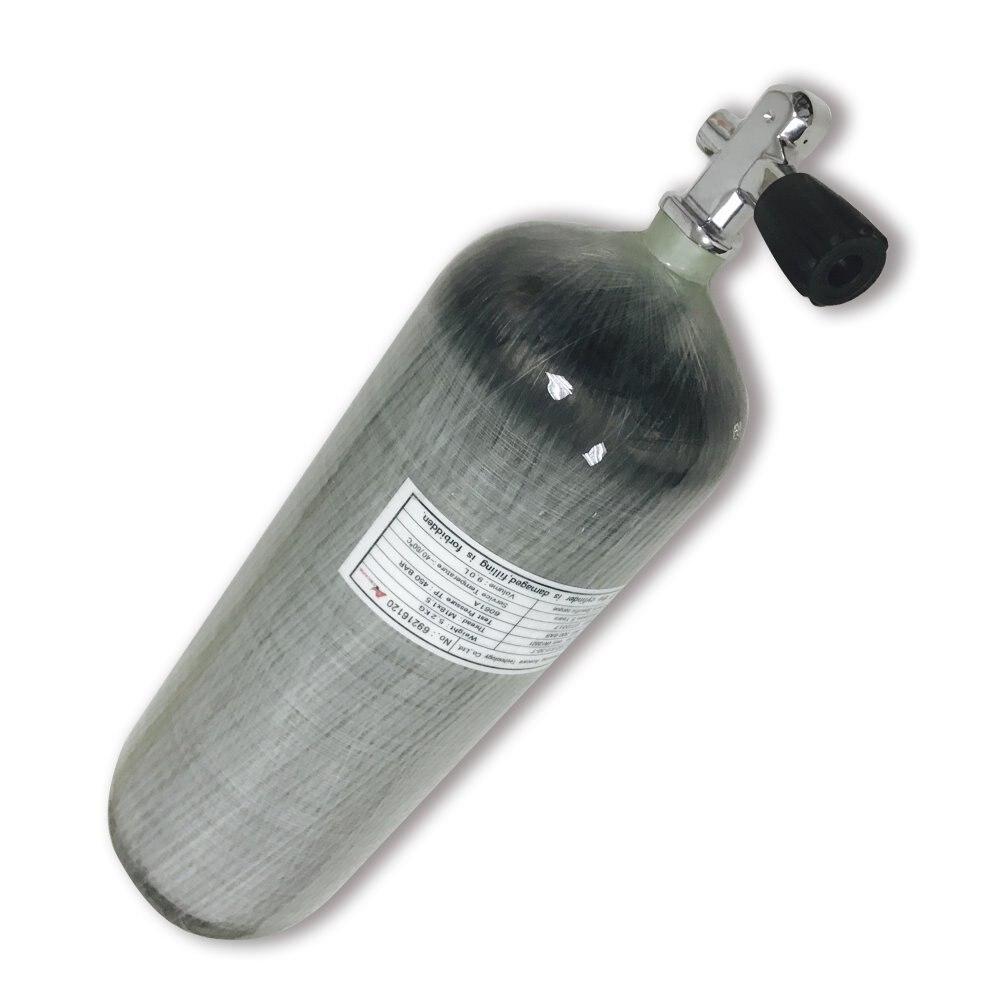 AC10931 9L CE 300bar 4500psi High Pressure Cylinder Scuba Pcp Air Tank Gun Paintball Air Gun With Hpa Valve Acecare