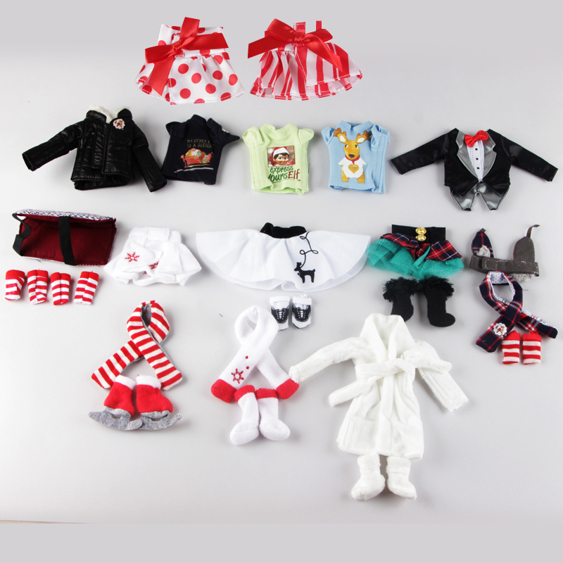 A Christmas Tradition Elf Toys Clothes Dolls Clothing Apron Tuxedo Boots Scarf a christmas carol and other christmas writings
