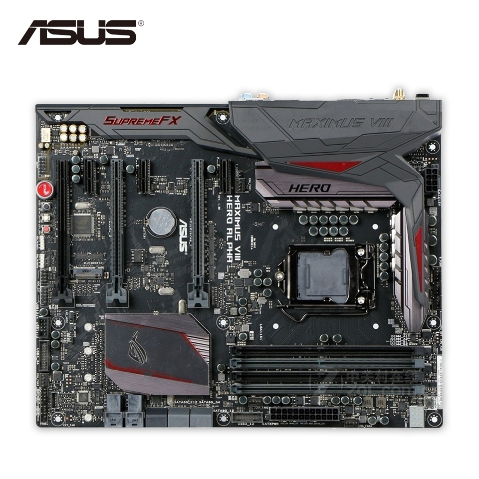 все цены на Asus ROG MAXIMUS VIII HERO/ALPHA Desktop Motherboard M8H/A Z170 Socket LGA 1151 i7 i5 i3 DDR4 64G ATX Second-hand High Quality онлайн