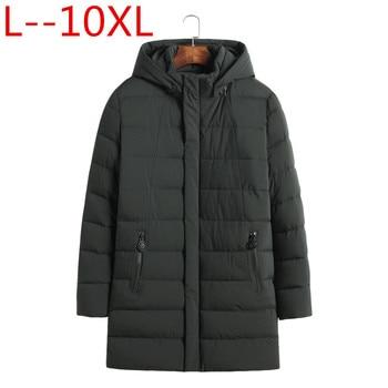 Plus 10XL 9XL 8XL 7XL 6XL 5XL 2018 Pocket Zipper Design Men Jacket winter New Arrival Casual Fashion Parka Cotton Coat Keep warm