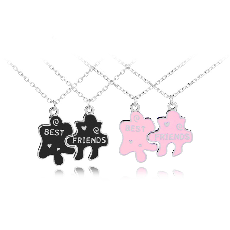 Fashion explosion Puzzle Necklace Personalized Best Friends Jewelry as a gift to give your friends or lover image