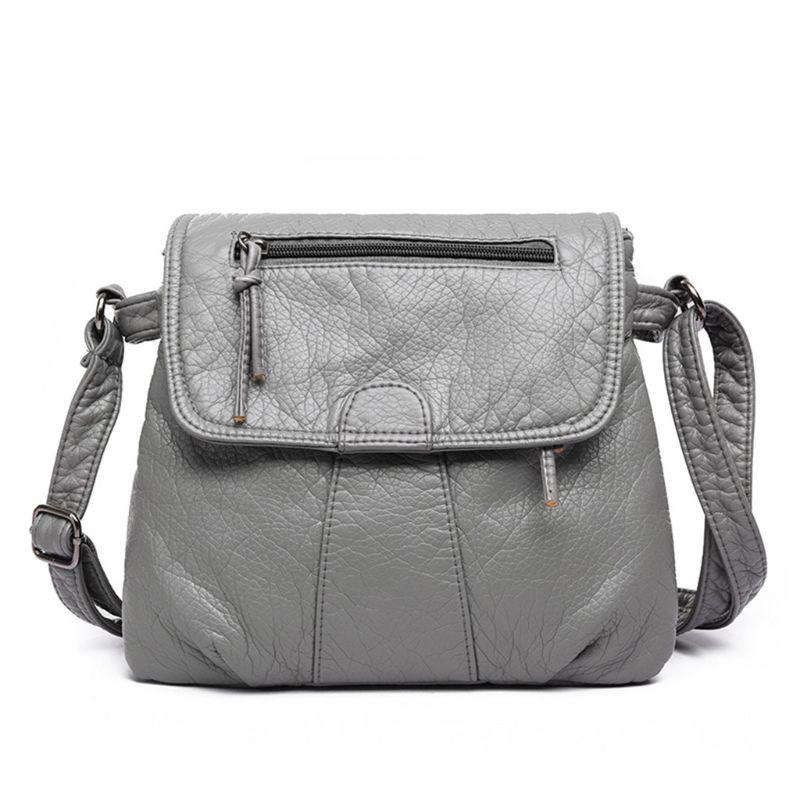 2019 New Soft Artificial Leather Handbag Women Shoulder Bag Flap Cross Body  Bags for Lady Female Brand HandBags by 4 Colors 7eca95a8a4706