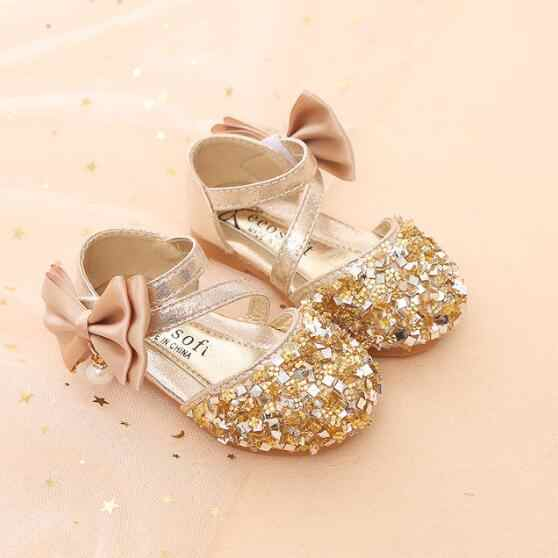 df881598f46c Girls Sequins Sandals Summer Fashion New Crystal Single Shoes Kids Children  Korean Toddler Baby Princess Sandals