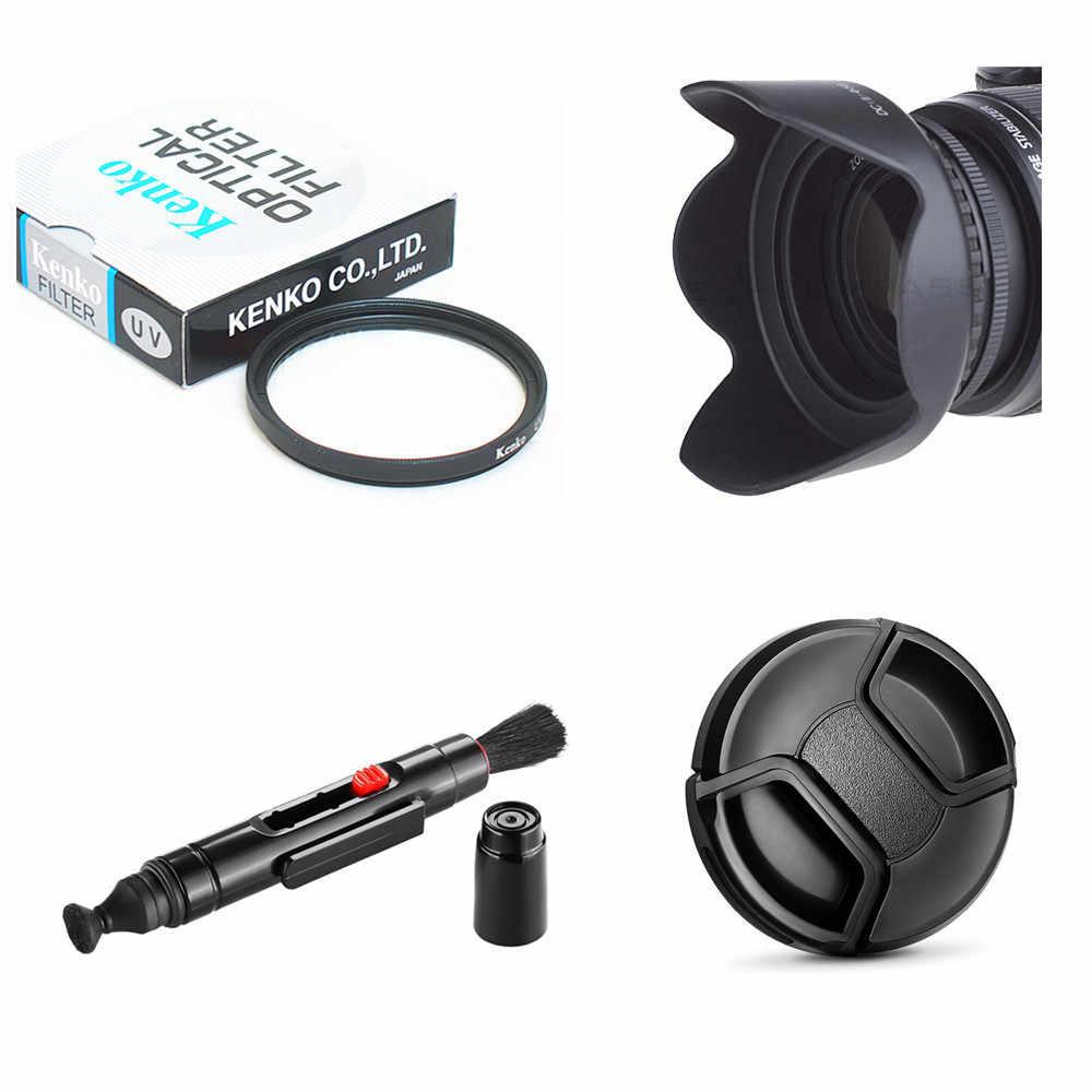 Тонкий УФ-фильтр 49 мм УФ-фильтр + крышка объектива + бленда объектива Кепки + чистящая ручка для цифровой однообъективной зеркальной камеры Canon EOS M5 M6 M10 M50 M100 с составляет 15-45 рабочих дней мм/EF 50 мм f1.8 STM Объективы