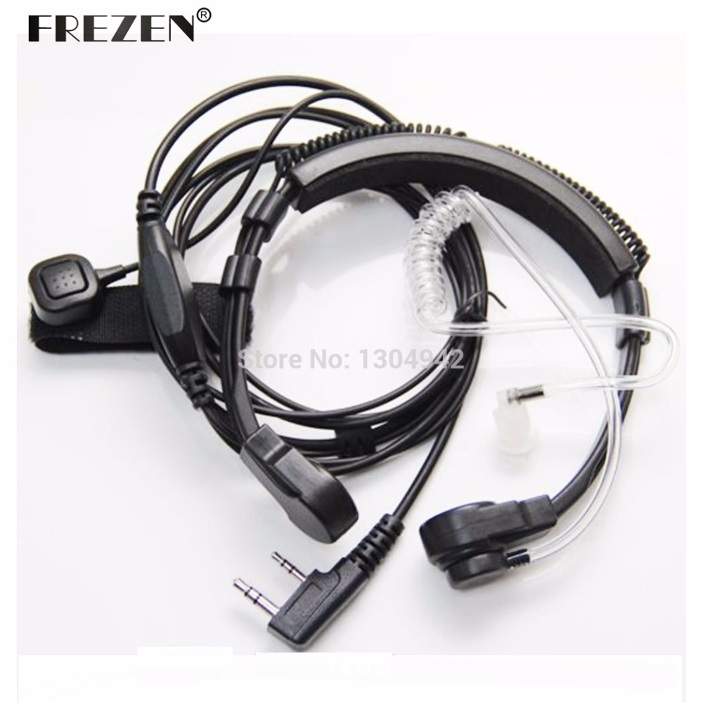 Flexible Throat Mic Microphone Covert Acoustic Tube Earpiece Headphone For Baofeng Kenwood Headset TK Radio Walkie Talkie
