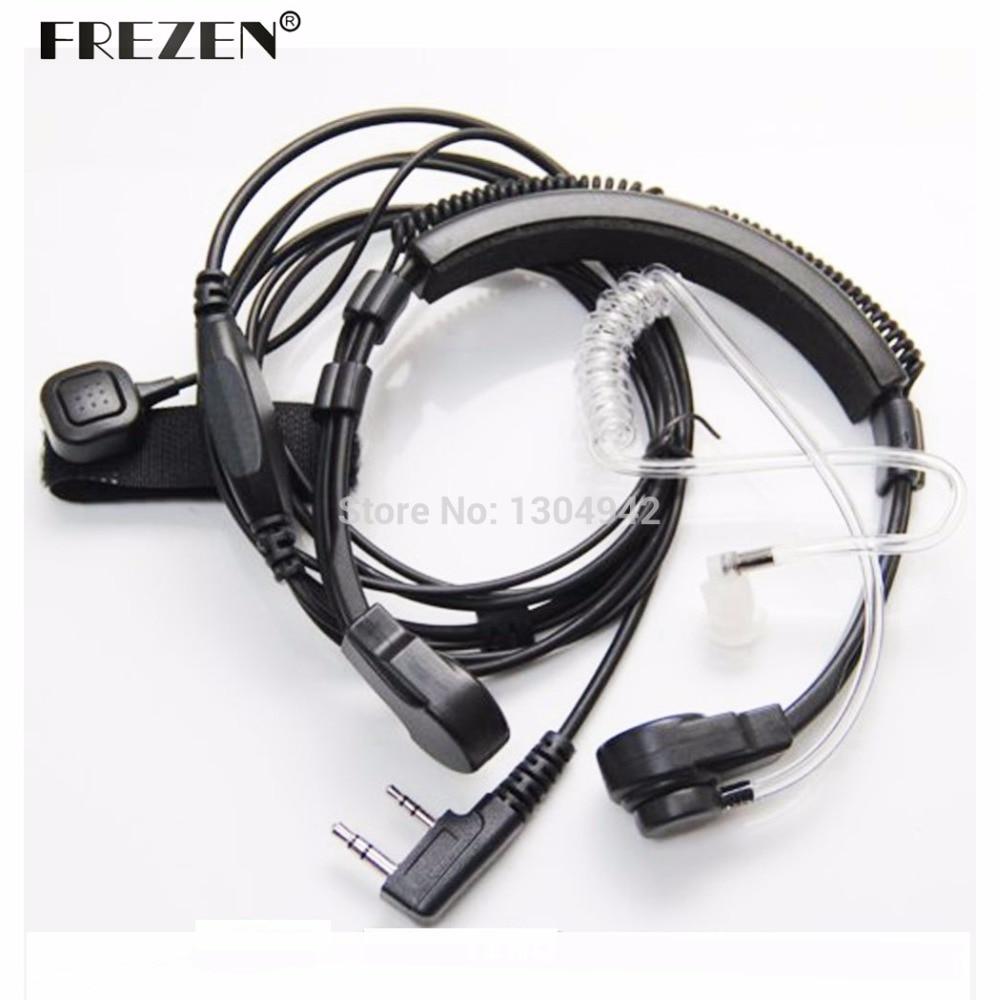 Flexible Throat Mic Microphone Covert Acoustic Tube Earpiece Headphone For Baofeng Kenwood Headset TK Radio Walkie Talkie