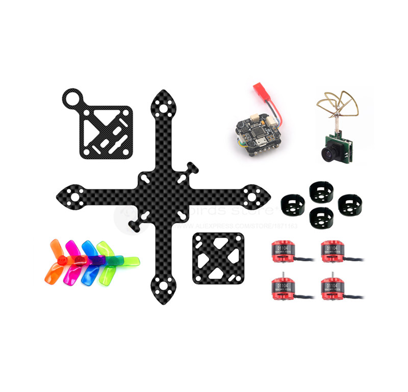 DIY FPV indoor cross racing quadcopter drone frame PNP kit mini F3 10A flytower 20mm x 20mm 90mm pure carbon frame D1104 7500KV diy carbon steel oval frame cutting dies
