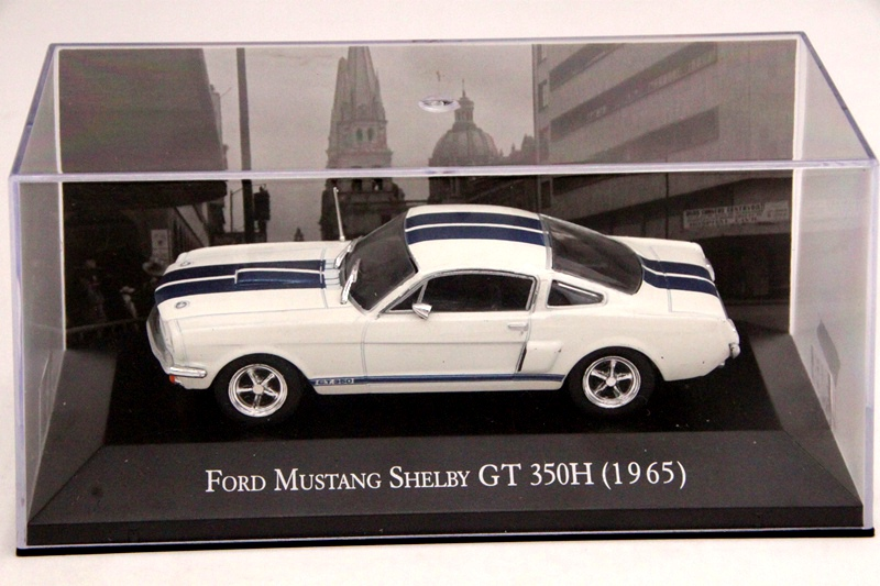 IXO Altaya 1:43 Scale Ford Mustang Shelby GT 350H 1965 Cars Diecast Toys Models Limited Edition Collection White футболка print bar ford mustang shelby gt500