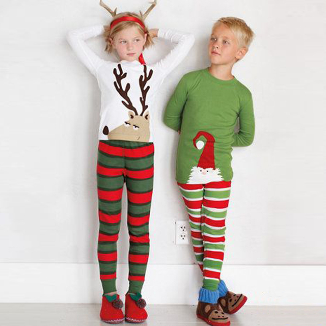 11e8ce4e79 Family Christmas Pajama Sets Cotton Kids Baby Boy Girl Xmas Reindeer  Sleepwear Toddler Pyjamas Nightwear Pajamas