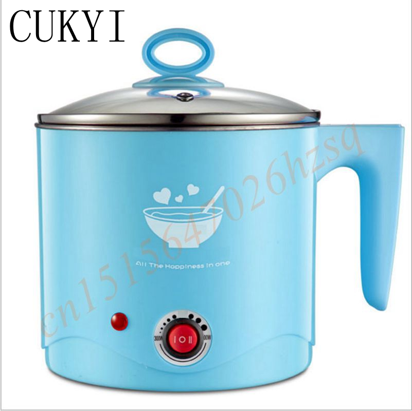 Multi-function electric cooker 304 stainless steel student accommodation bubble pot pot electric cooker 1.5L porridge small pot cukyi stainless steel electric slow cooker plug ceramic cooker slow pot porridge pot stew pot saucepan soup 2 5 quart silver