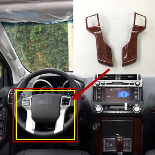 Car Central Control Outlet Air Vent ABS Chrome For Toyota Land Cruiser LC200 16+