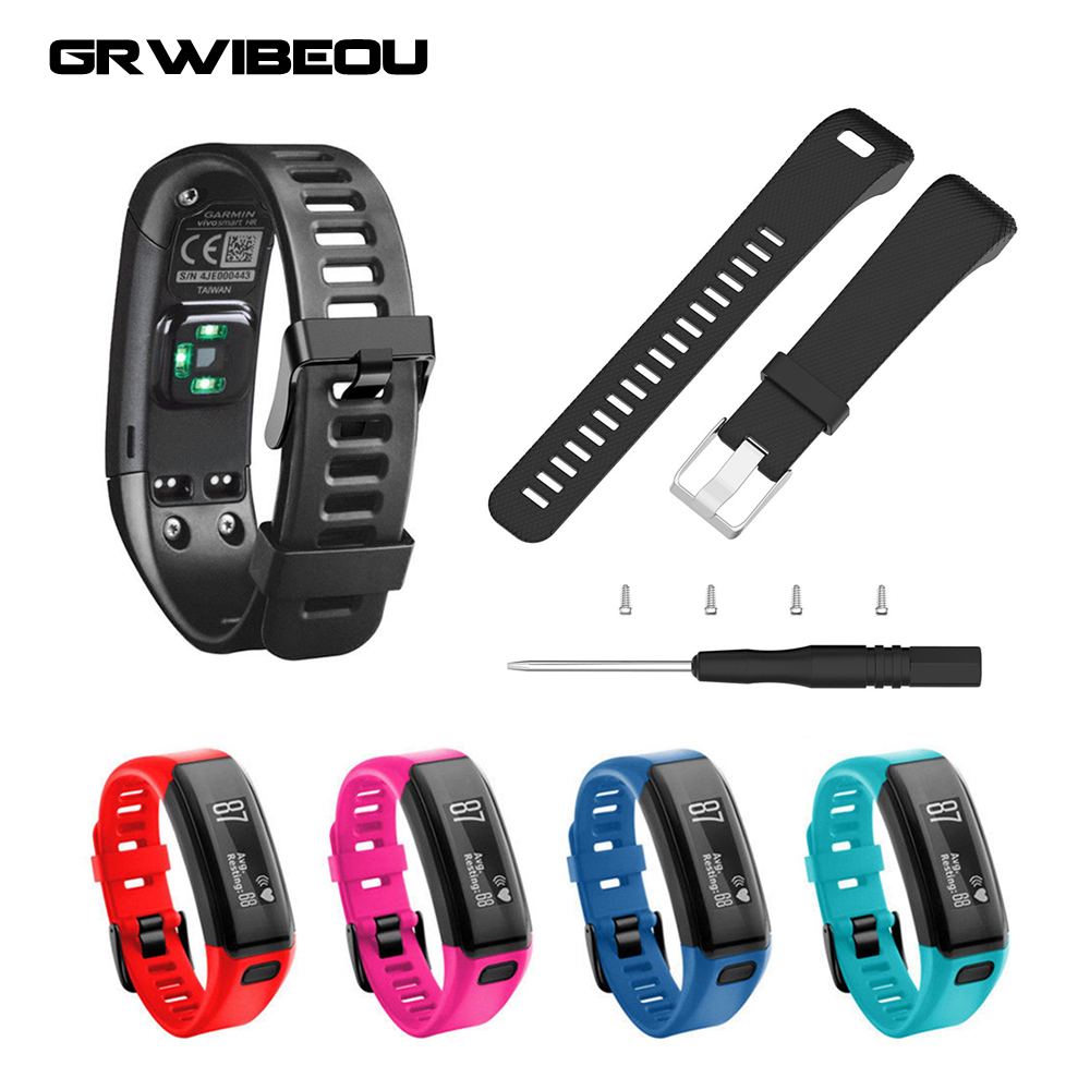 Replacement for Garmin Vivosmart HR Plus HR+ Watchband Watch Wrist Strap With Pin Tools  ...