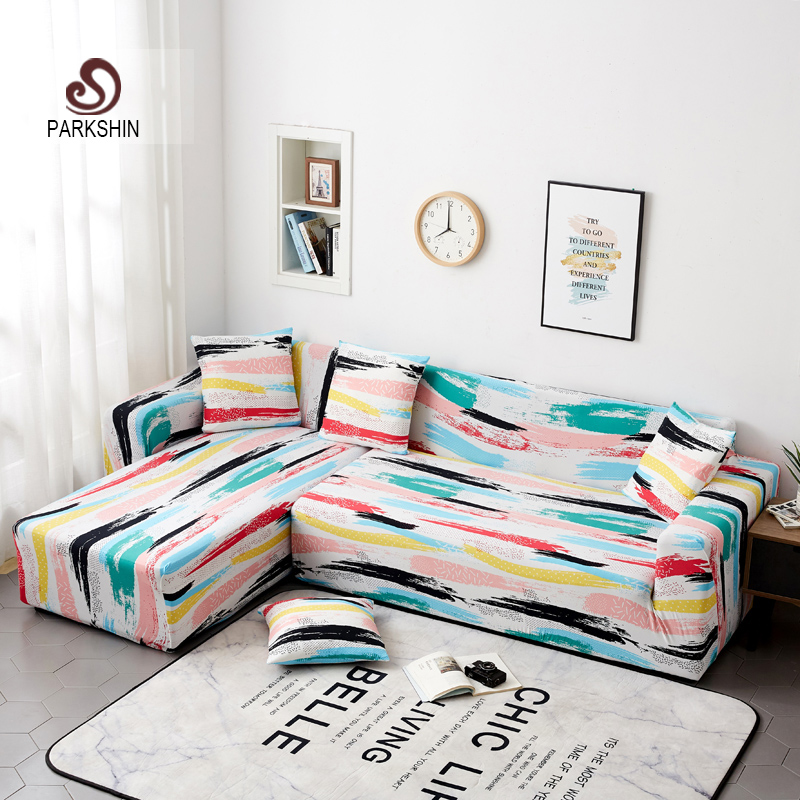 Parkshin Slipcover Stretch Four Season Sofa Covers Furniture Protector Polyester Loveseat Couch Cover Sofa Towel 1/2/3/4 seater-in Sofa Cover from Home & Garden