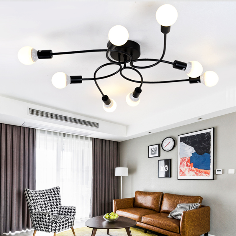 A1 The living room ceiling lamp of modern creative personality study simple iron NEW Korean bedroom lamps lighting FG290