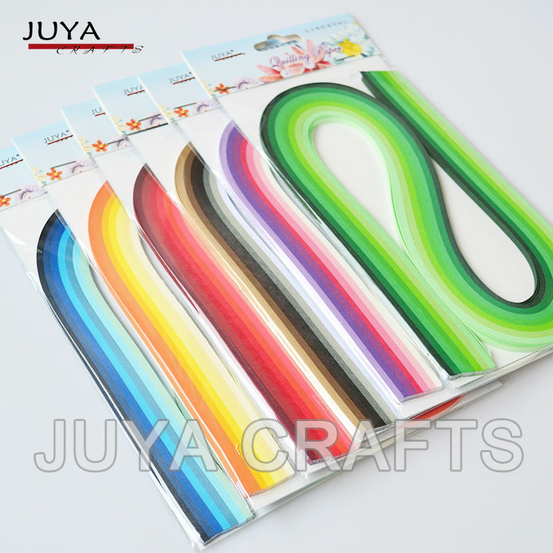 JUYA Paper Quilling 42 Shades Colors,540mm Length,3/5/7/10mm width,840 strips total DIY Paper Strip Handmade Paper Crafts
